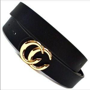 Accessories - Coming Soon..Black Vegan Leather Belt. trending
